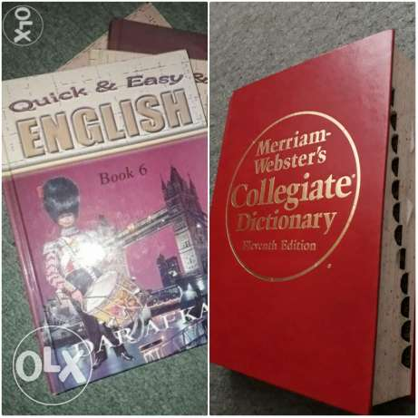 Quick & Easy English Books & Merriam Webster's dictionary!