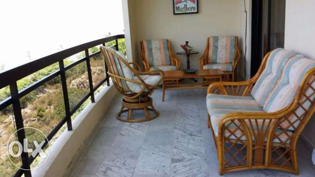 Furnished apartment for Rent in Ainab, Mount Lebanon Aley with views