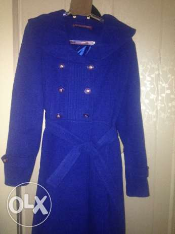 Winter coat in blue