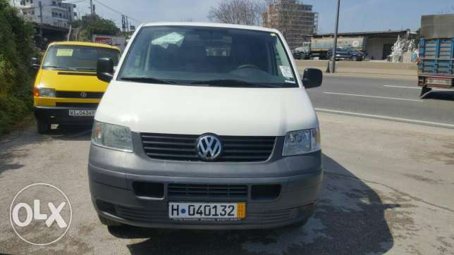 Volkswagen Transporter Maxi model 2007 شيسي طويل Expo safra