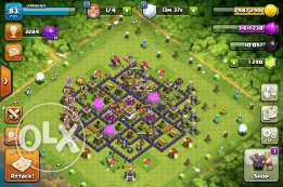 clash of clans townhall 8 acc max defence