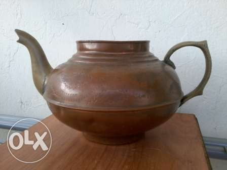 Old Teapot, red copper hand made, 50-70 years old, 17$