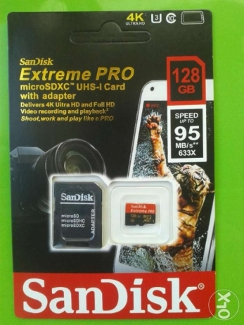 SanDisk Extreme pro 128gb class 10 U3 memory card And free deliver