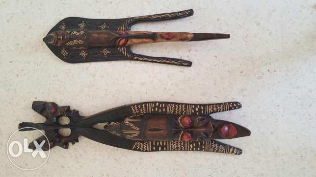 2 african masks never used