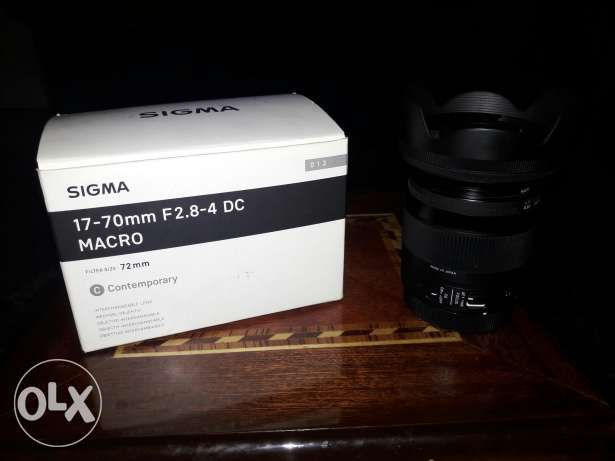 new in box lens sigma 17-70 mm 2.8-4 made in japane