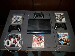 Ps3 with 5 cds w3 controllers for sale