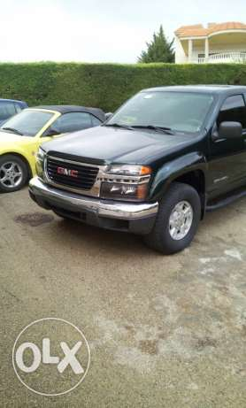 GMC, Canyon, model 2004, full option, 6 cylinder, dark green and grey