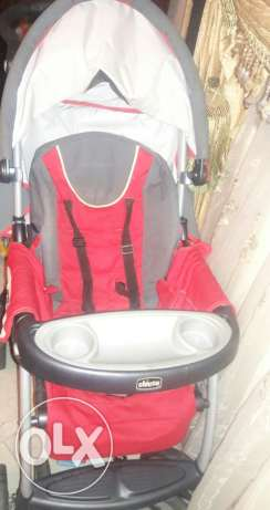 Chicco stroller red very good condition