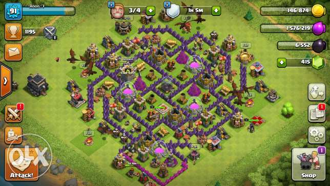Clash of Clans th9 (th8max)..
