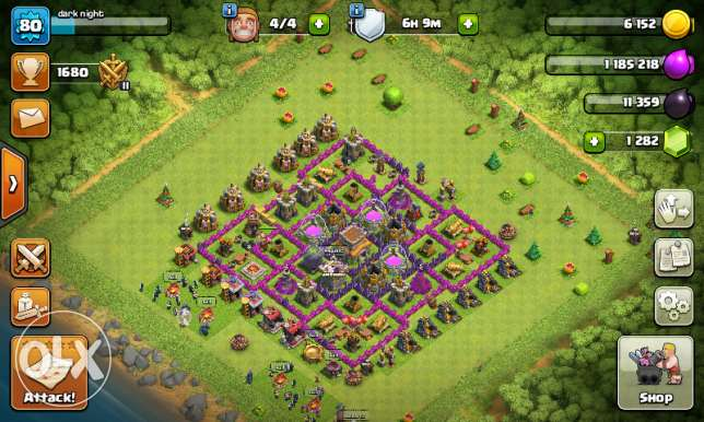 clash of clan th 8 for sale