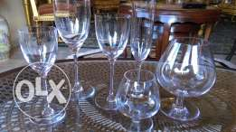 """St. Louis"" Fine French Crystal Glasses"