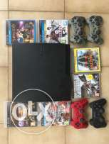playstation 3 + 4 controllers +6games