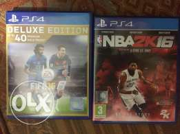 Nba and fifa 16 for sale
