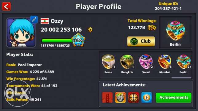 8 ball pool 22 billions with best prices
