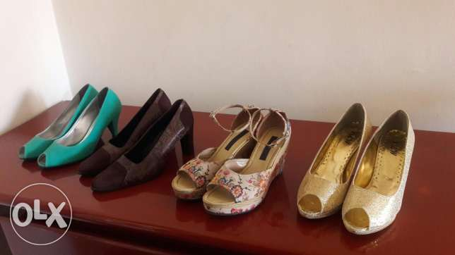 4 heels 39 for only 50$
