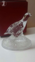 Bird made of glass for decoration.