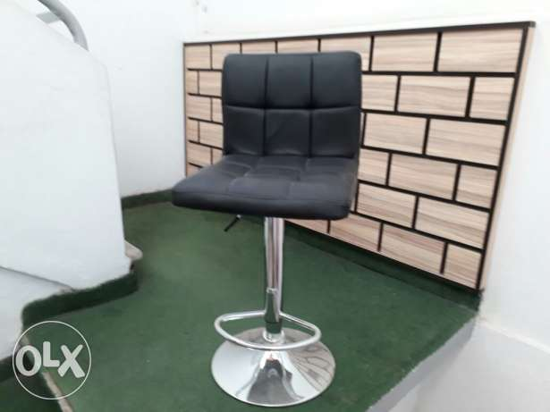 Black chair with leather