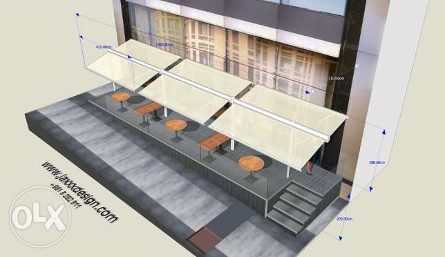 3D DESIGNER for your AWNINGS and store facades انطلياس -  7