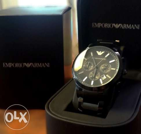 Full Metal Smoked black EA Genuine watch
