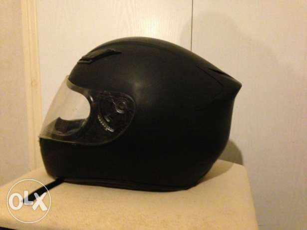 helmet in good condition used 4 times black matte