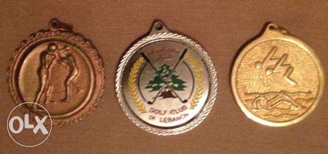 3 Sports Lebanese medals ATCL 1973, Boxing 1995 & Golf Club Lebanon