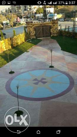 Garden decoration and stamped concrete عاليه -  3