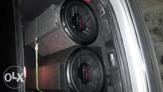 Ampilifier 998 w 2 subwoofers pioneerw 1400 watts each w amplifier 1200 watts for the speakers w 2 speakers pioneer البترون -  4