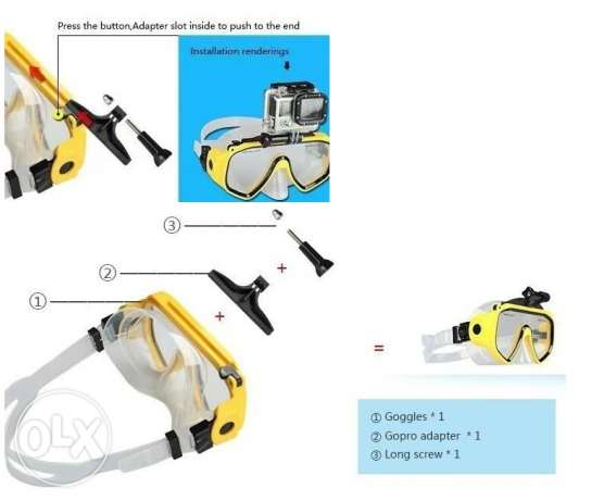 diving mask with gopro mounter