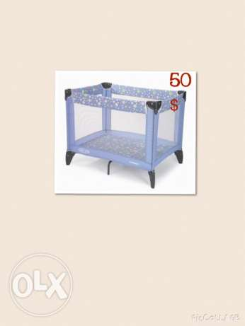Graco bed park with mattresses حازمية -  1