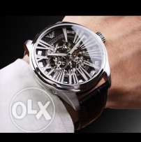 Swiss Automatic Skeleton black and silver EA (valentine's special gift