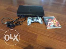 PS3 used with wwe 2k17 with Goldberg + joystick HDMI and and power