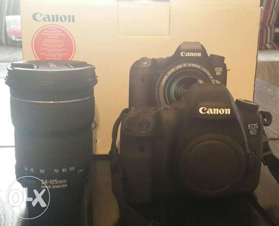 Canon 6d+24-105 lens (used but new) بعبدا -  1
