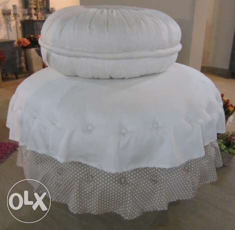 NEW Pouf set of 3: all for $400 (zouk mosbeh)