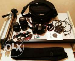 Canon EOS 1100D with all accessories