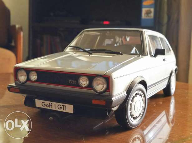 Golf 1 GTI diecast car model 1:18