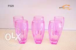 Set of amazing 6 cups - pink color
