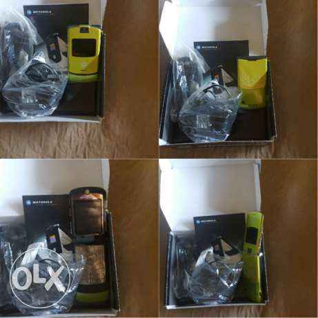 motorola v3 brand new with his box and all accesories طبرجا -  1