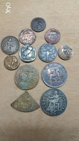 Antique greek /roman /russ/arab coins silver& bronze