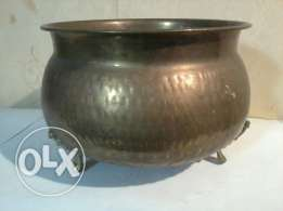 Old heavy copper bowl, from Germany, 25cm, 30$