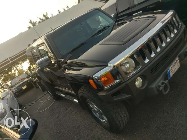 Hummer h3 2006 fully loaded black on black clean carfax