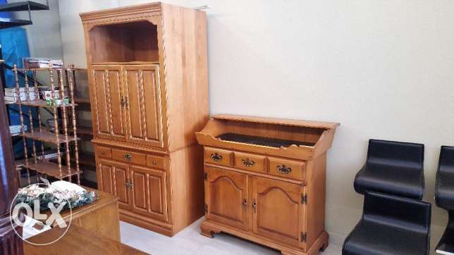 CANADIAN FURNITURE - T.V Armoire , Wash Stand