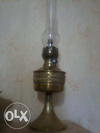 Gold Brenner Lamp, 140 years old, kerozene w electricity, 60cm, 110$