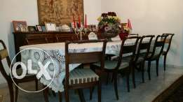 Regency Dining Room Table with 12 Chairs