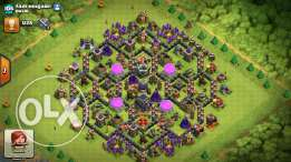 Clach of clans لعبتين