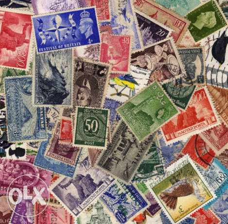 250 Worlwide all different stamps