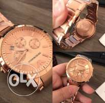 Fancy rose gold authentic Armani for ladies