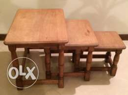 Three Oak Side Tables