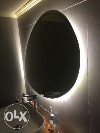 Belgian Mirror with LED with fixation