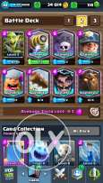Clash royale acc for sale arena 10 and 10 legendaries