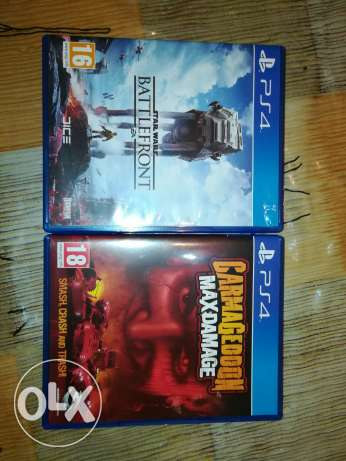 2 ps4 games in very good condition barely used